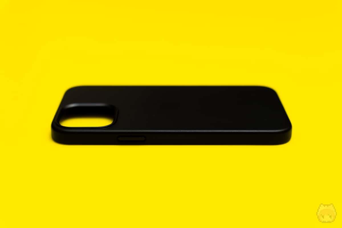 MagSafe対応iPhone 12 Pro Maxレザーケース右面