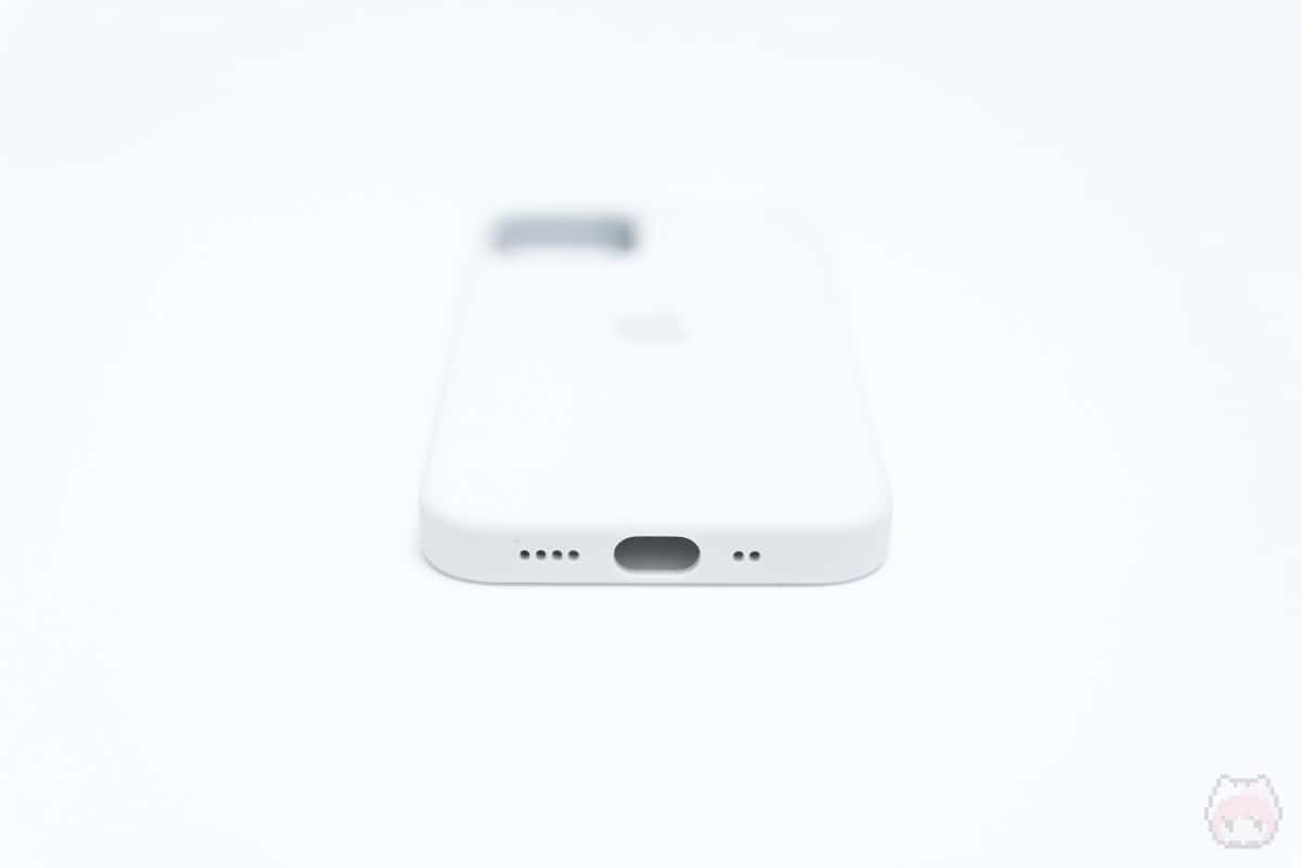 MagSafe対応iPhone 12 miniシリコーンケース下面