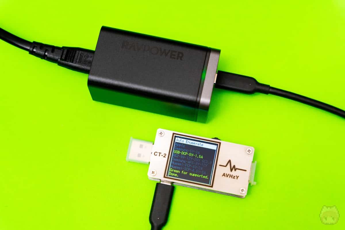 USB PDから、他の急速充電規格が検出されなかった!素晴らしい!!