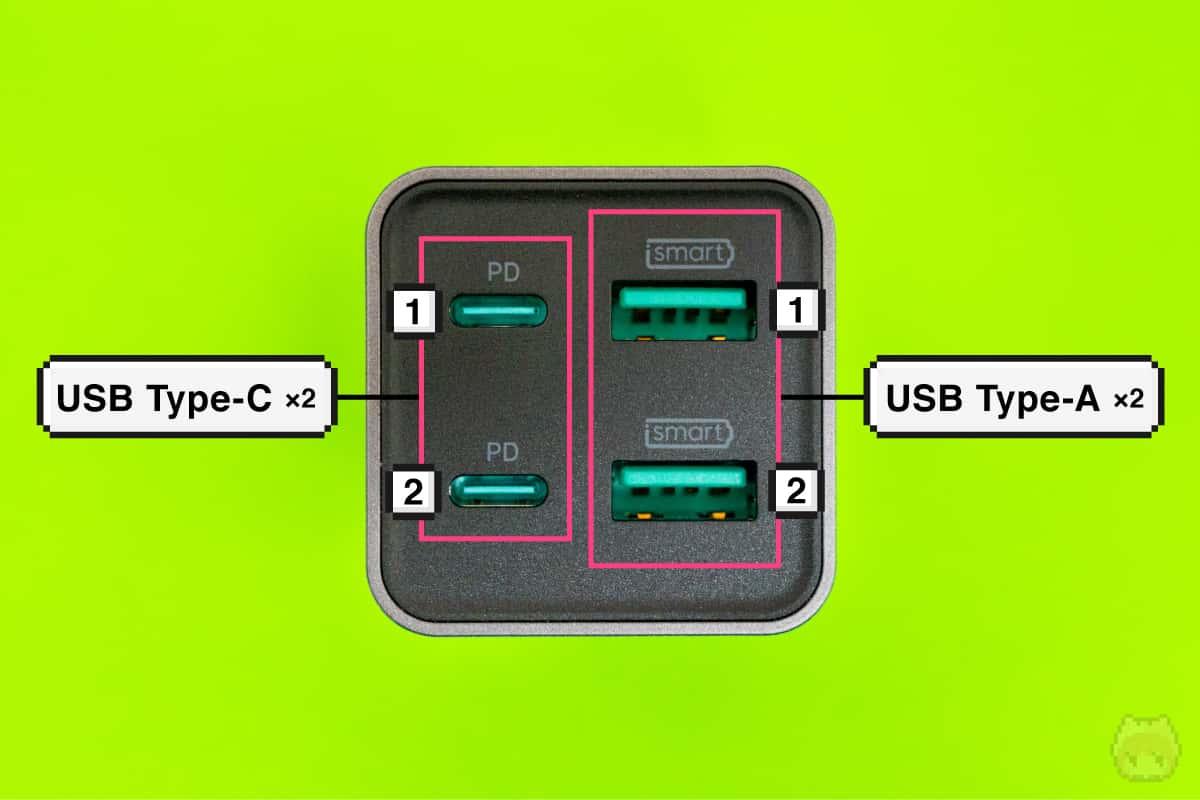 RP-PC136のUSBポート構成
