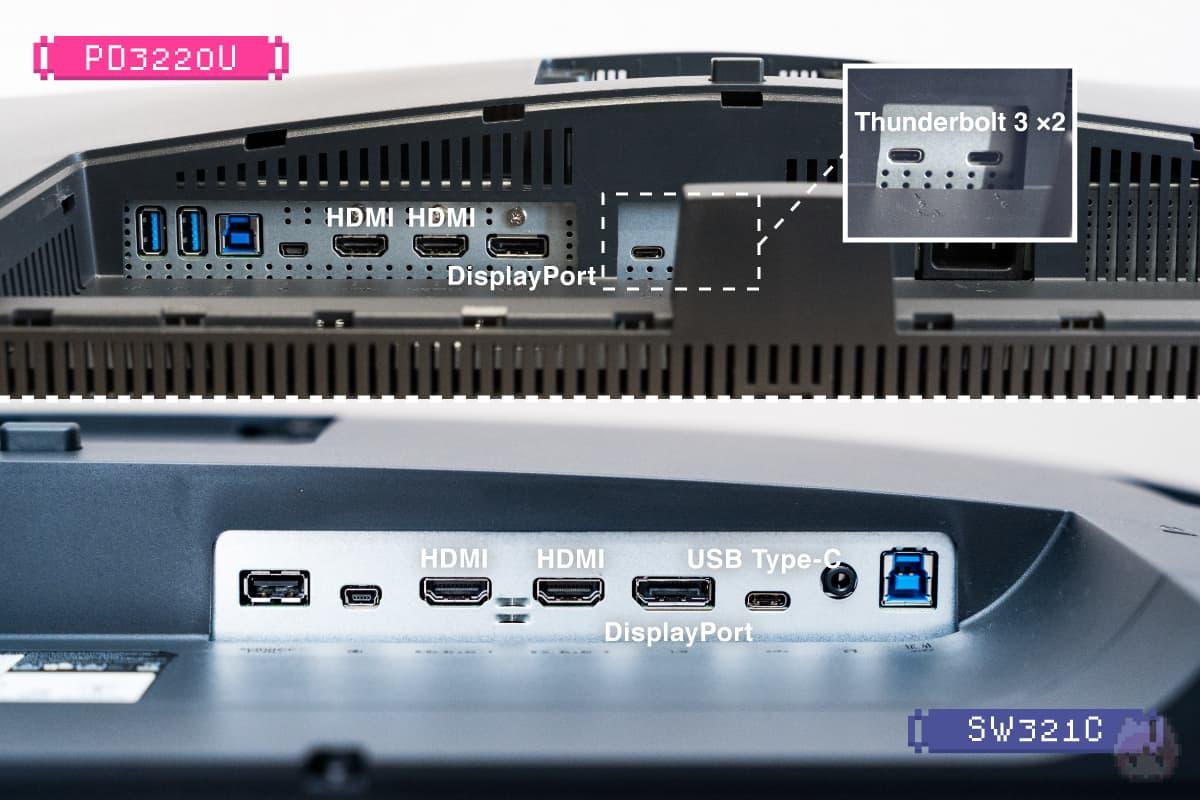 上:PD3220U|下:SW321C