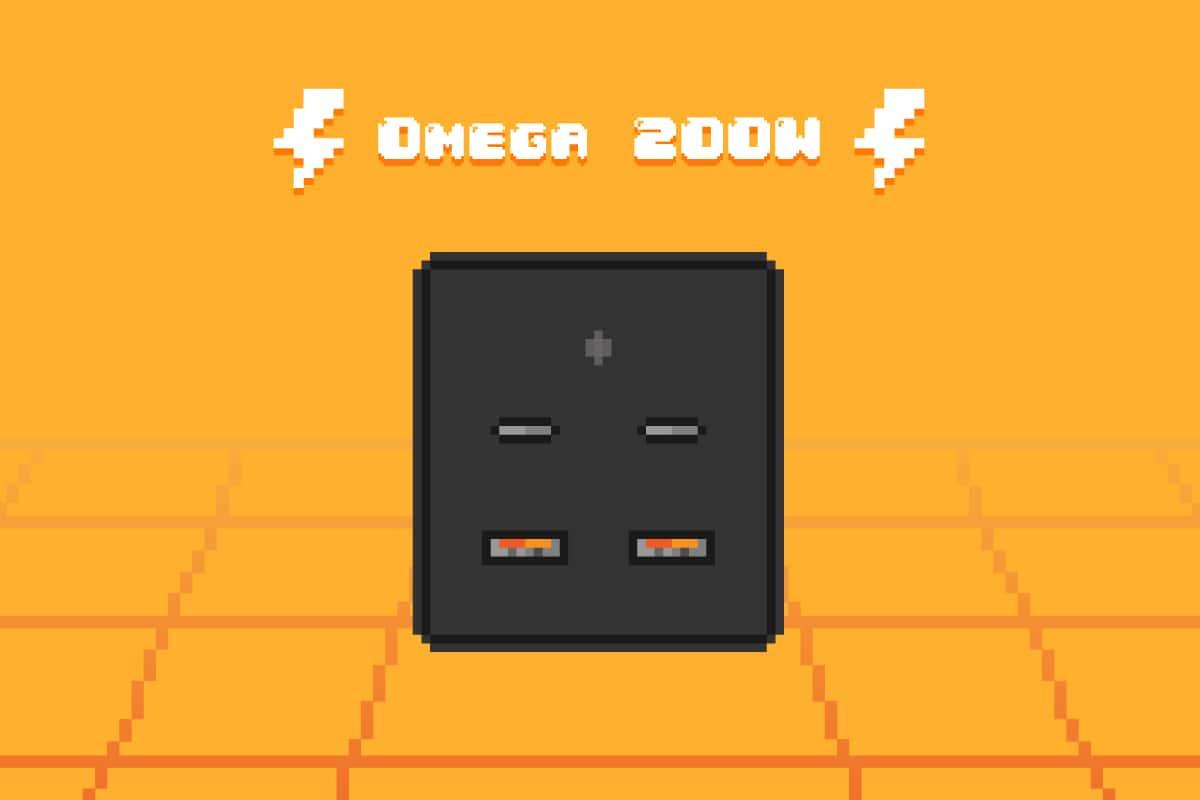 PPS対応の最強なUSB PD充電器『Omega 200W』を支援した