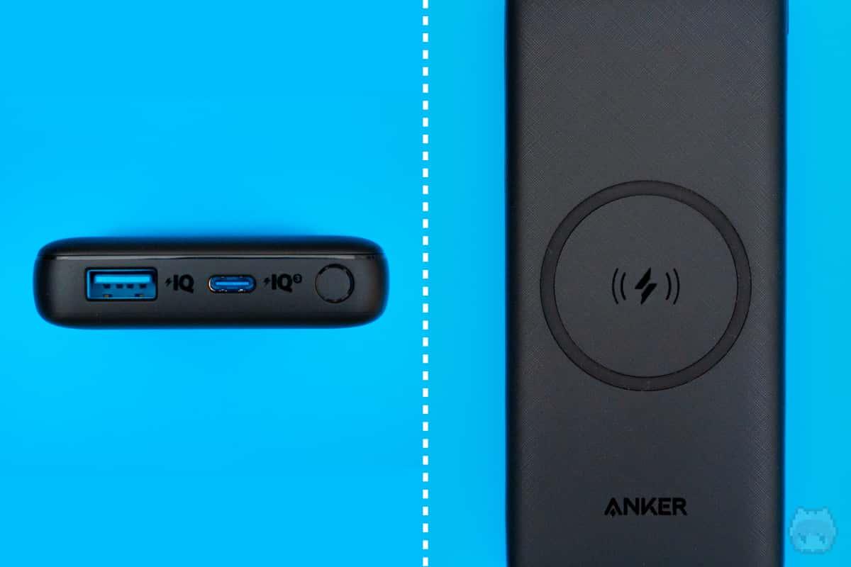 Anker PowerCore III 10000 Wireless(インターフェース部分)