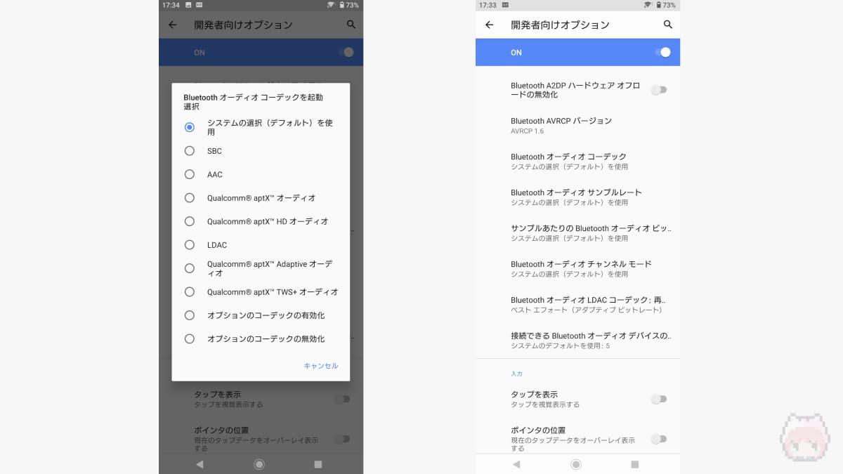 Xperia 1 IIは主要Bluetoothコーデックを網羅している。