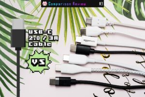 USB-Cケーブル(2.0・3A)7製品比較レビュー:充電用に最適なベストバイ決定戦