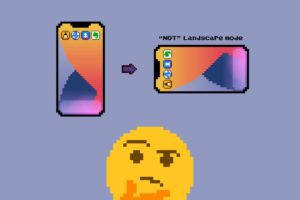 現行iPhoneのホーム画面が横向きにならない理由のUX的考察