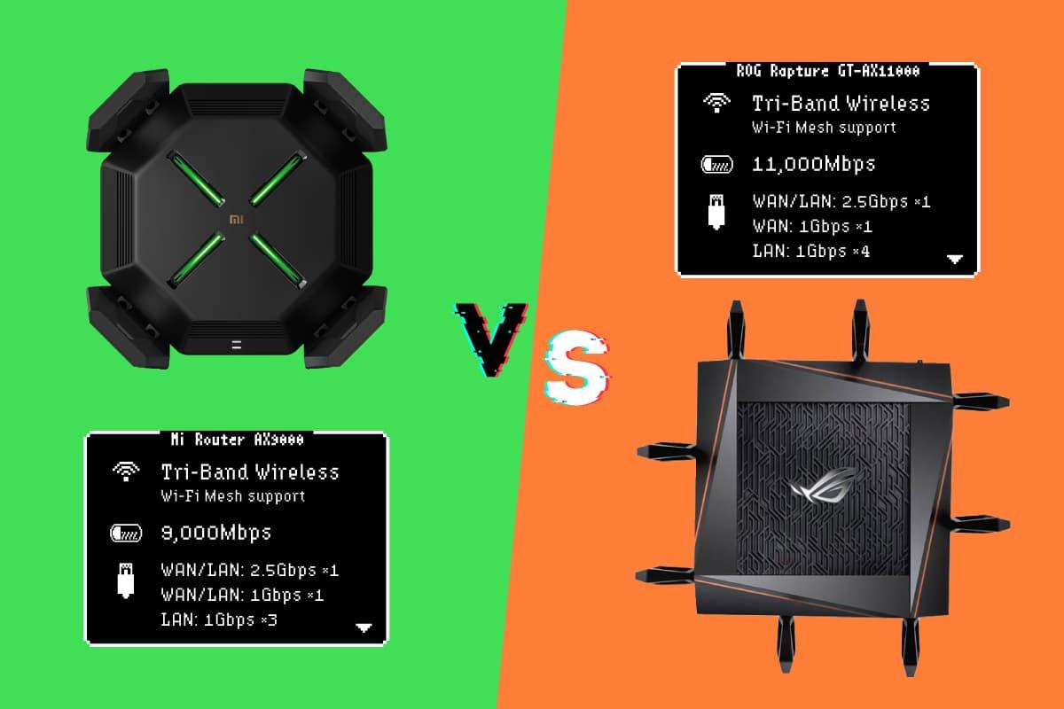 『Xiaomi AX9000』vs『ASUS GT-AX11000』——2021年最強のトライバンドメッシュWi-Fiルーター比較