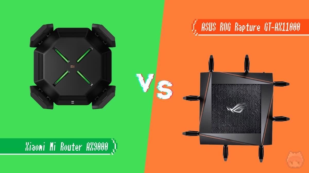 『Xiaomi AX9000』vs『ASUS GT-AX11000』