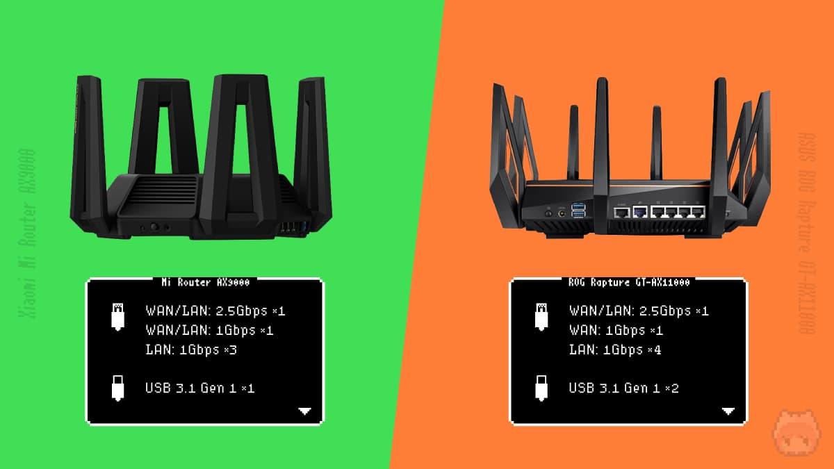 Xiaomi Mi Router AX9000 vs ASUS ROG Rapture GT-AX11000
