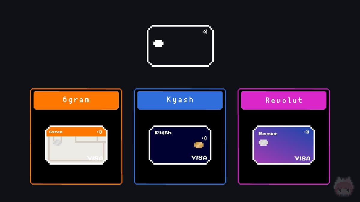 6gram vs Kyash vs Revolut