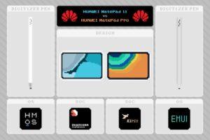 『HUAWEI MatePad 11』と『HUAWEI MatePad Pro』の比較と相違点