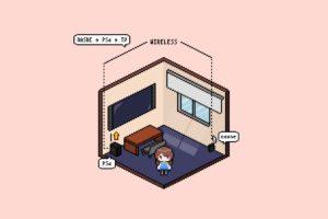 テレビアンテナ端子がない部屋の解決策 → nasneで無線化