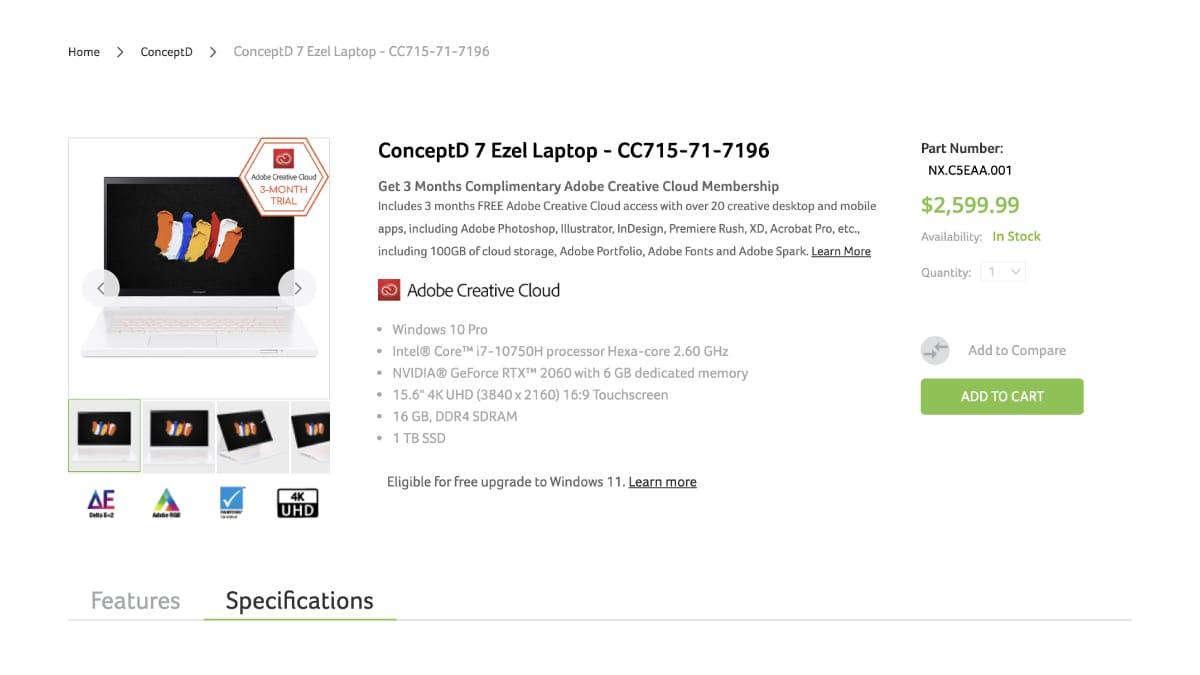 狙いは『ConceptD 7 Ezel』