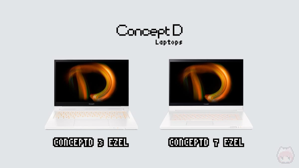 ConceptD Laptopsの種類