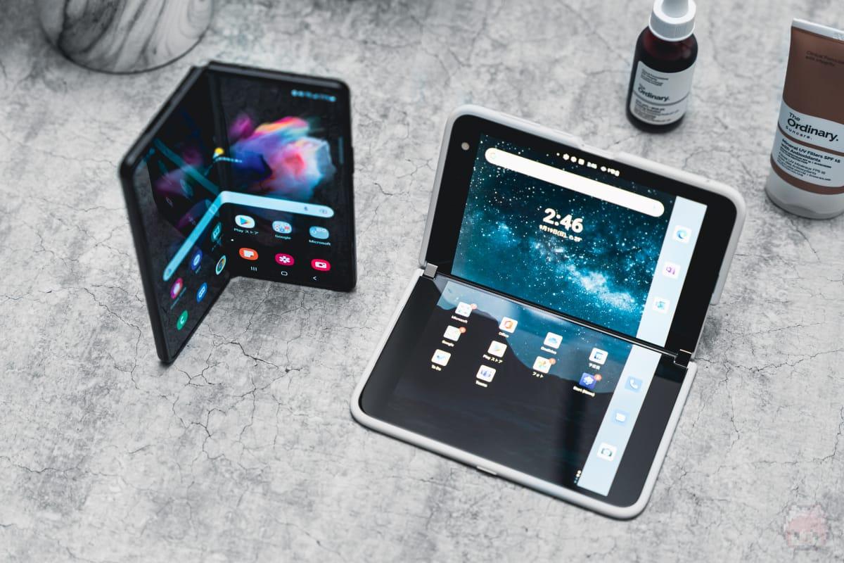 Galaxy Z Fold3 5GとSurface Duoを比較した総評