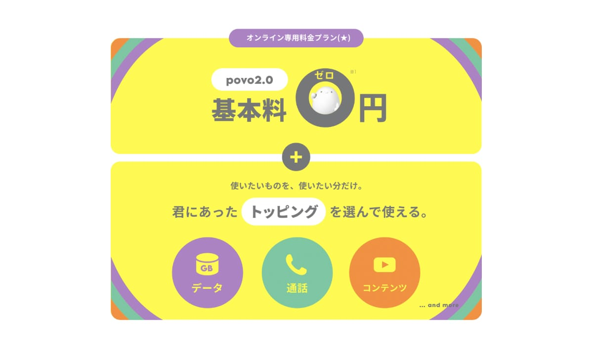 povo2.0の概要と特徴